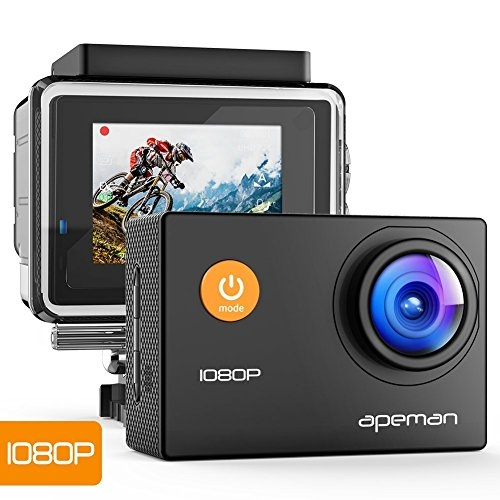 APEMAN 1080P Full HD 12MP wasserdichte Unterwasser Action Kamera