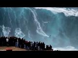 Biggest waves ever at Nazaré, Portugal