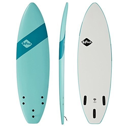 Softech Handshaped FCS II Surfboard 6ft Soft Sky