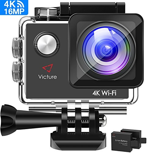 Victure Action Cam 4K WiFi 16MP wasserdichte Action Kamera